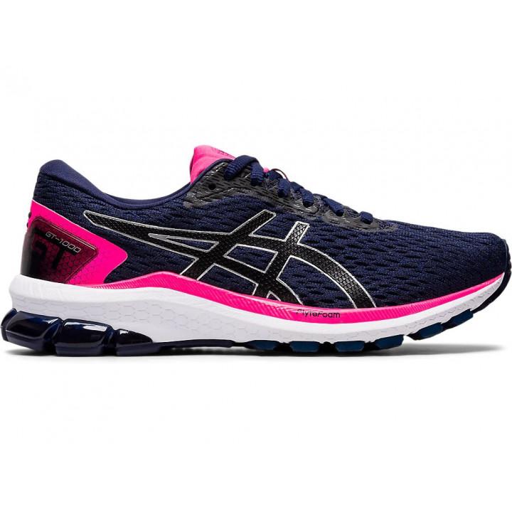 Женские кроссовки для бега Asics Gt-1000 9 (PEACOAT/BLACK)