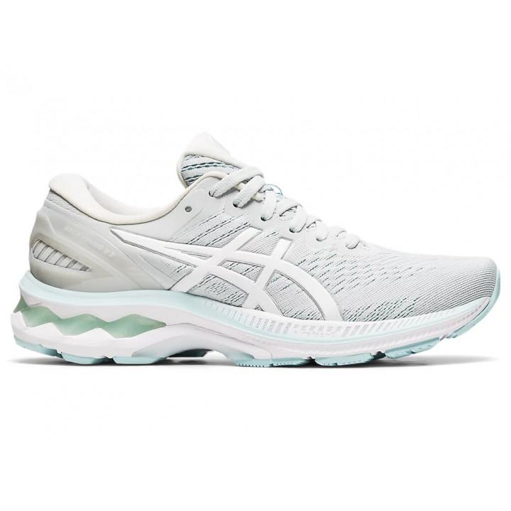Женские кроссовки для бега Asics GEL-KAYANO 27 (Glacier Grey/White)