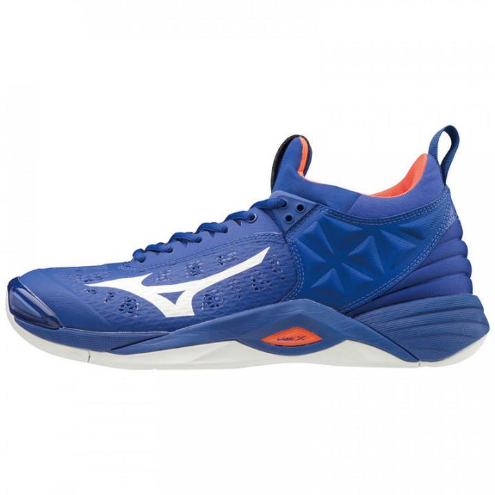 Волейбольные кроссовки Mizuno Wave Momentum (Blue/White)