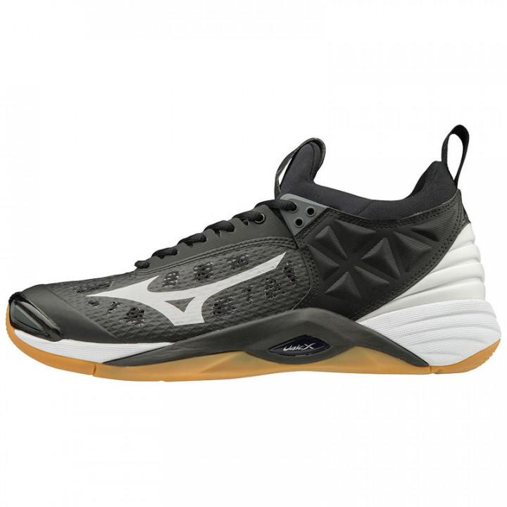 Волейбольные кроссовки Mizuno Wave Momentum (Black/Silver)