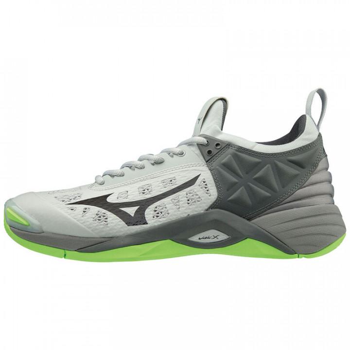 Волейбольные кроссовки Mizuno Wave Momentum (GREENGECKO/Silver)