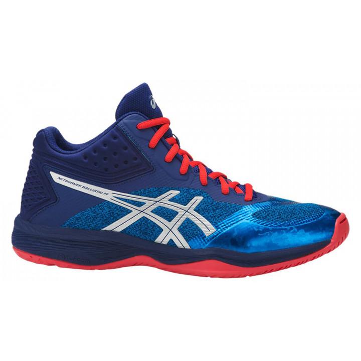Волейбольные кроссовки Asics NETBURNER BALLISTIC FF MT (Race Blue/Silver)