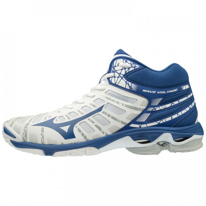 Волейбольные кроссовки Mizuno Wave Voltage Mid (White/Blue)
